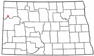 Location of Williston, North Dakota
