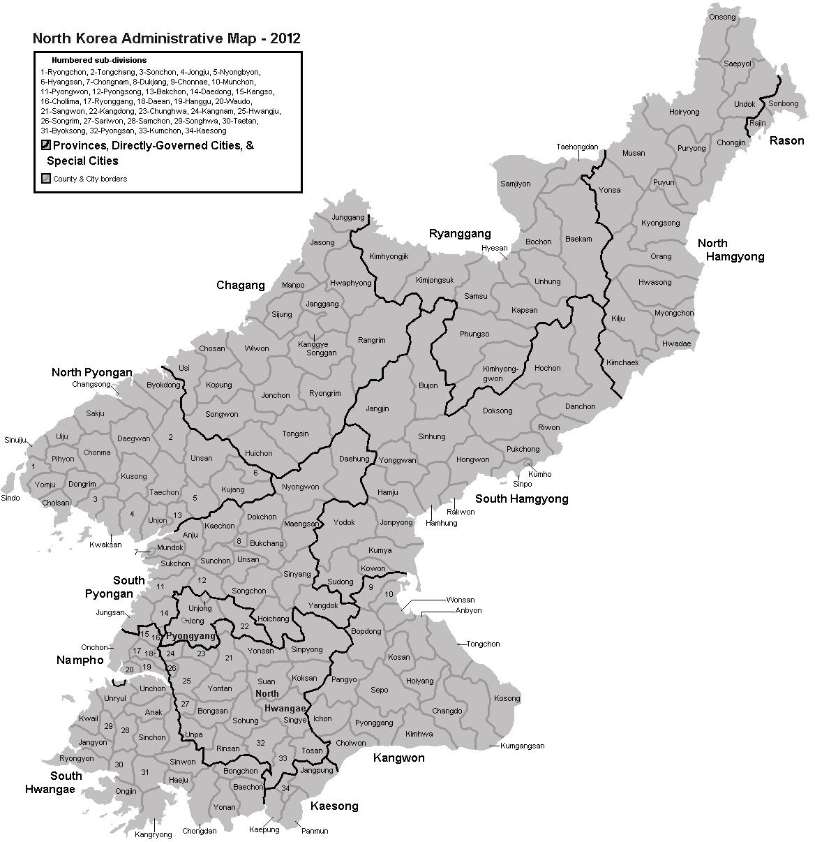 Provinces of North Korea - Wikipedia
