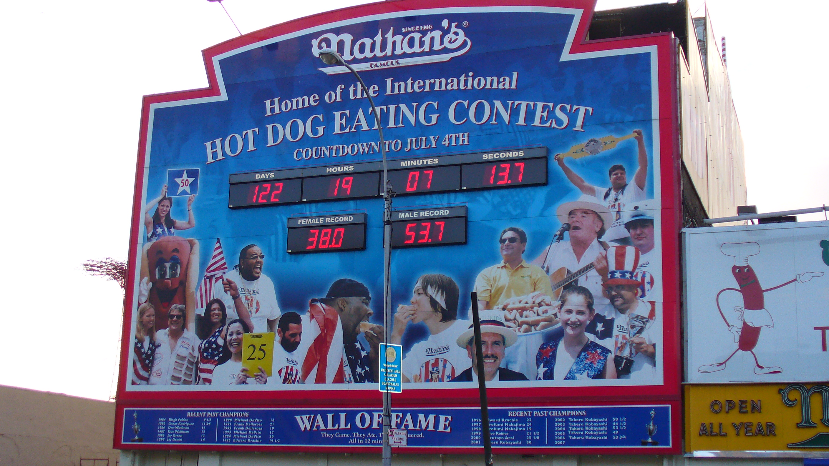 Nathan's Wall of Fame of contest winners, 2006.