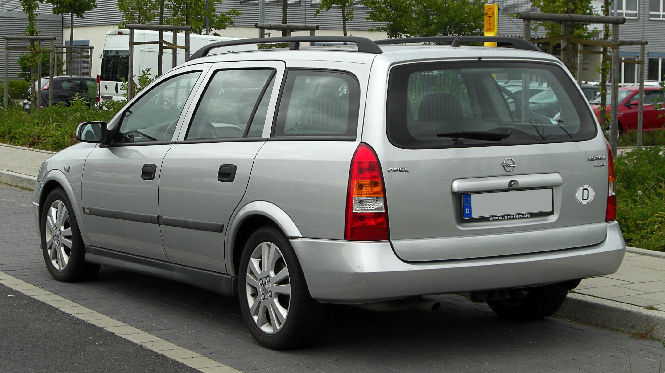 File Opel Astra Caravan 1 6 16v Selection G Heckansicht 28 Mai 2011 Dusseldorf Jpg Wikimedia Commons