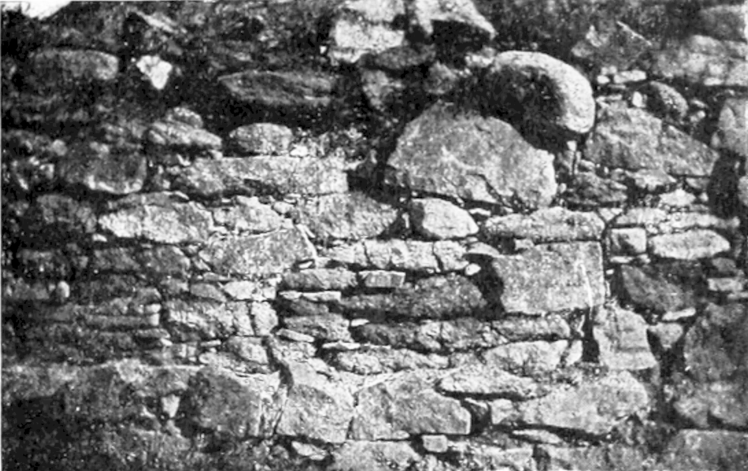 PSM V56 D0179 Old wall at fort william henry in maine.png