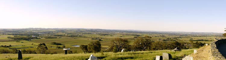 The Barossa Valley, looking northwest from Mengler's Hill