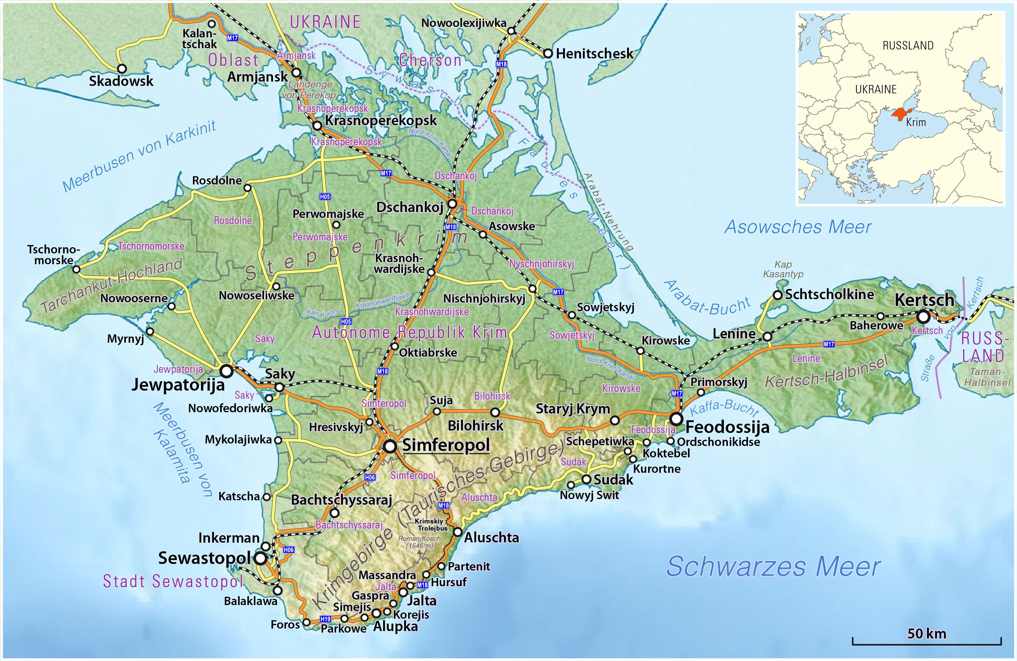 Filephysische Karte Der Krim Jpg