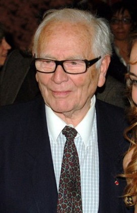 The 96-year old son of father (?) and mother(?) Pierre Cardin in 2018 photo. Pierre Cardin earned a  million dollar salary - leaving the net worth at 723 million in 2018