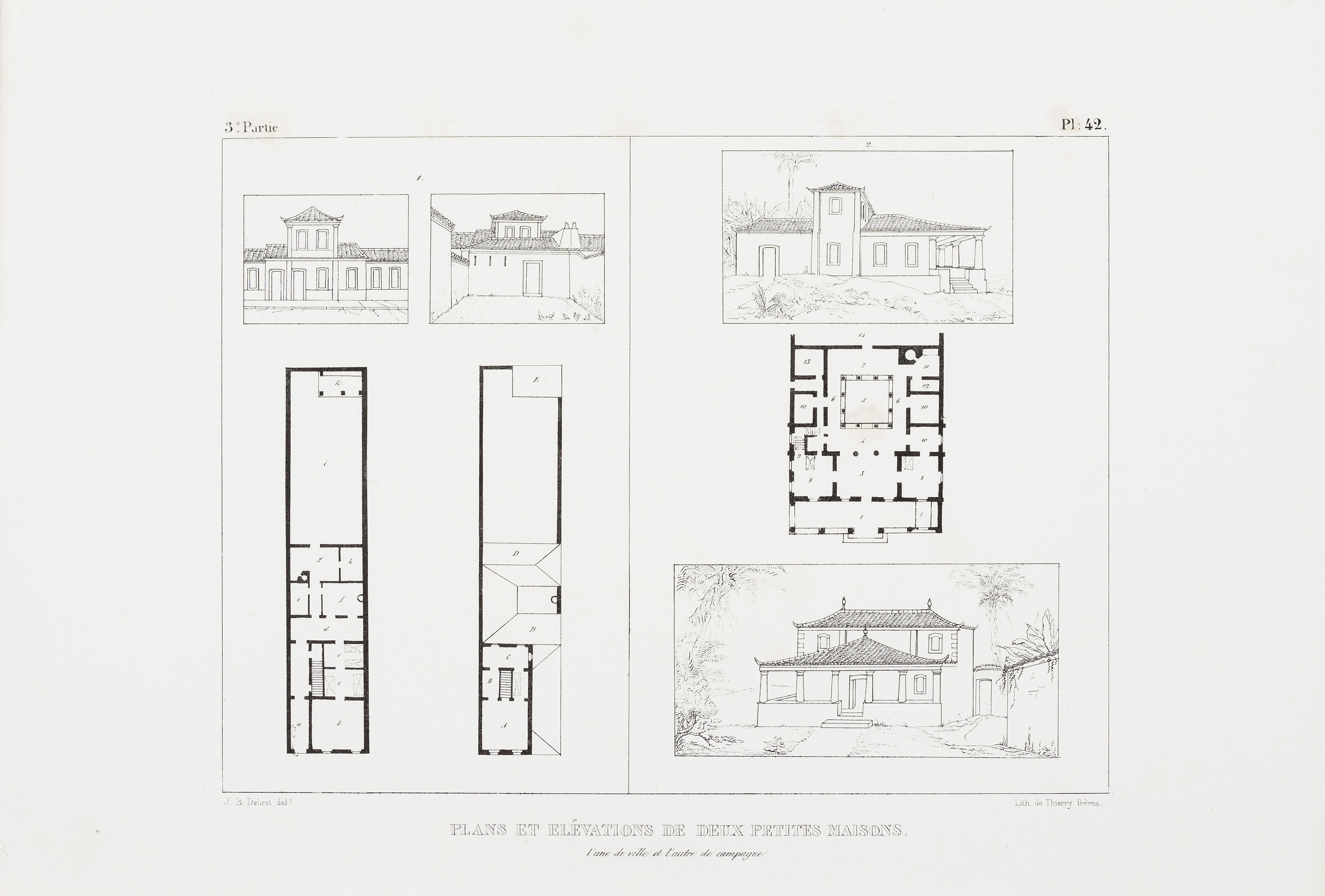Fileplans Et Elévations De Deux Petites Maisons Lune De