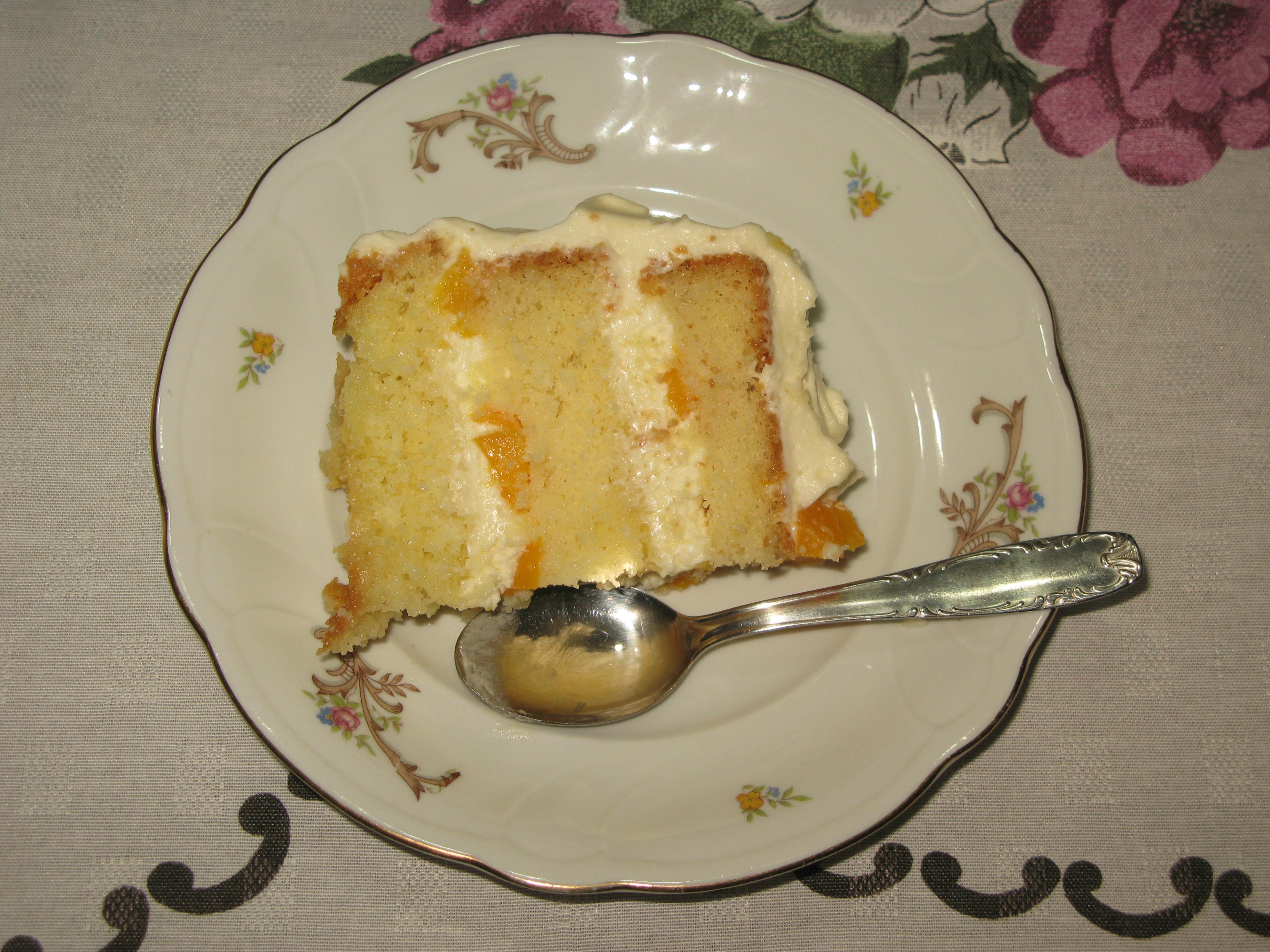 Pastel Helado De Galletas Con Cafe
