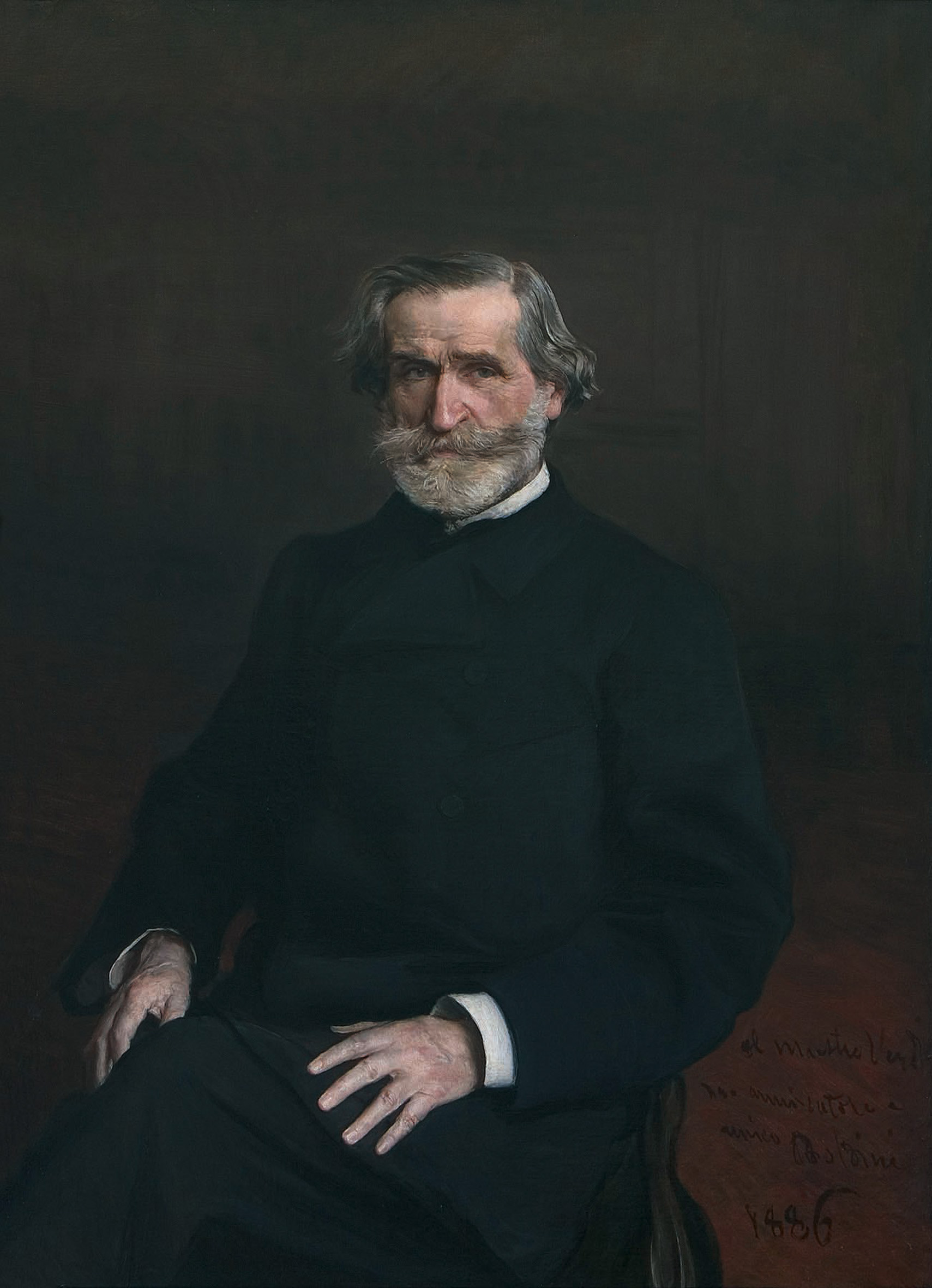 Portrait of Giuseppe Verdi by [[Giovanni Boldini