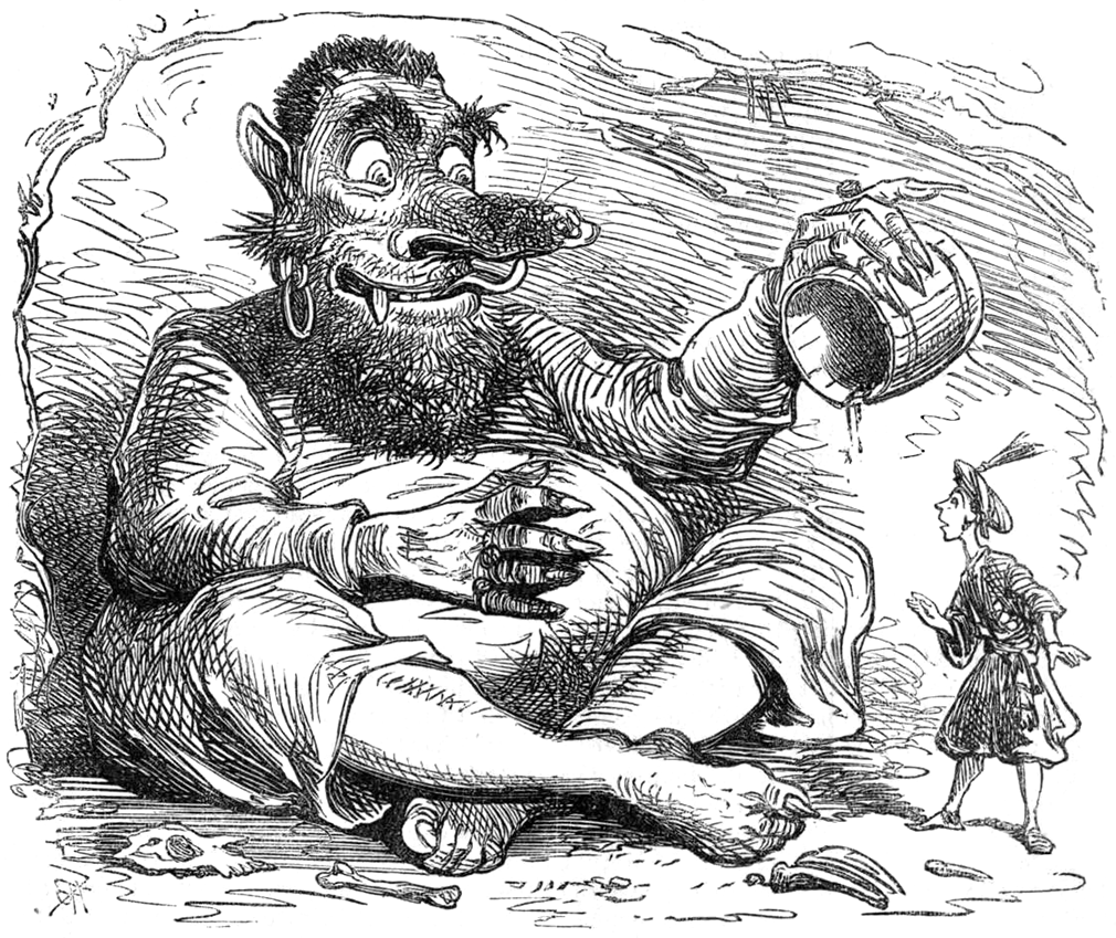 "Illustration for the story ""Prince Hassan and the Ogre"" in Once a Week, volume 8, page 56"