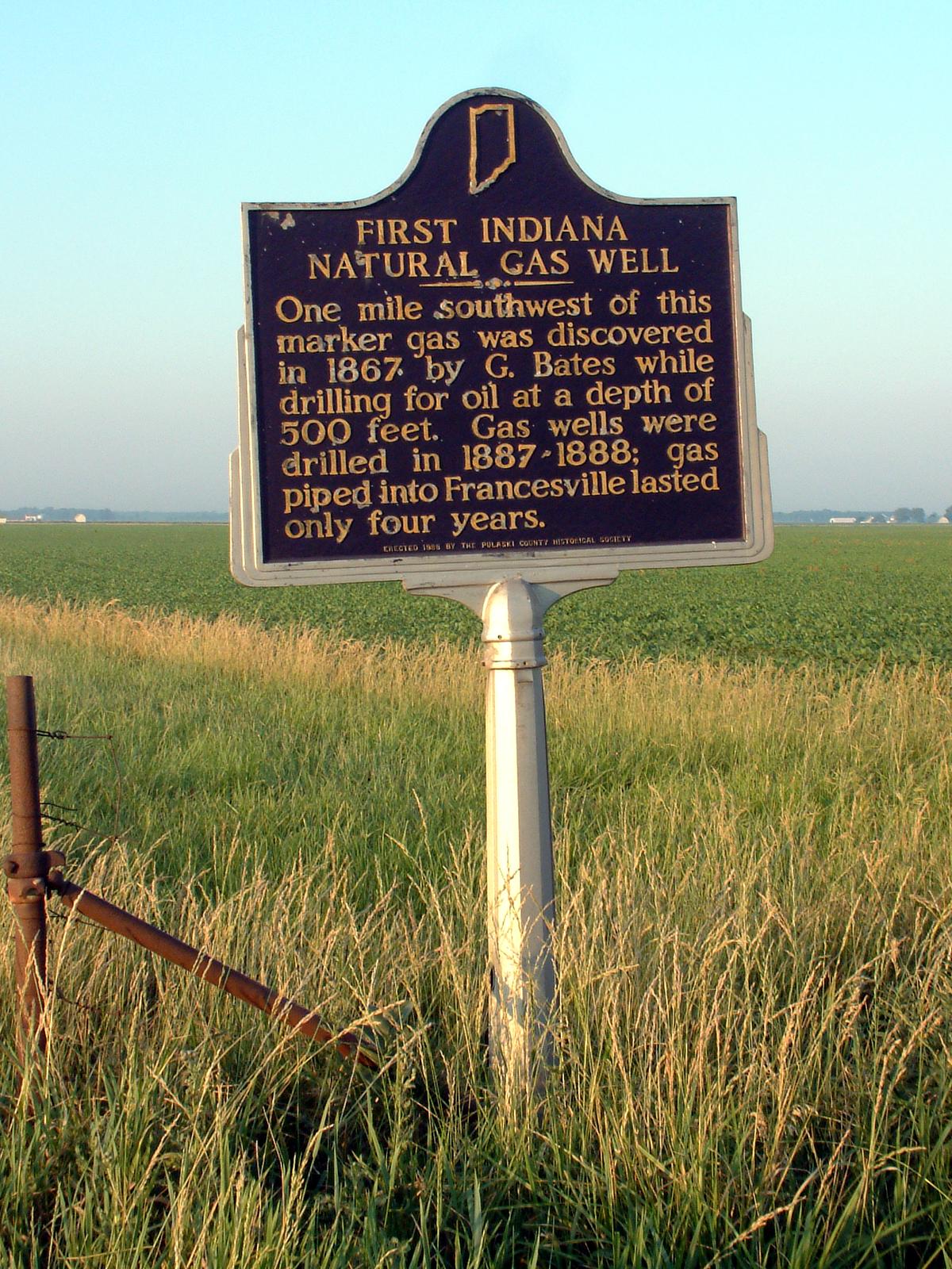 Indiana pulaski county francesville - File Pulaski County Natural Gas Marker Png