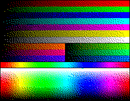 RGB 24bits palette color test chart - 3-bit RGB dithered.png