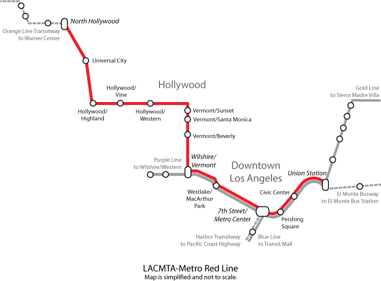 Red Line Los Angeles Subway Map.File Red Line Map Png Wikimedia Commons