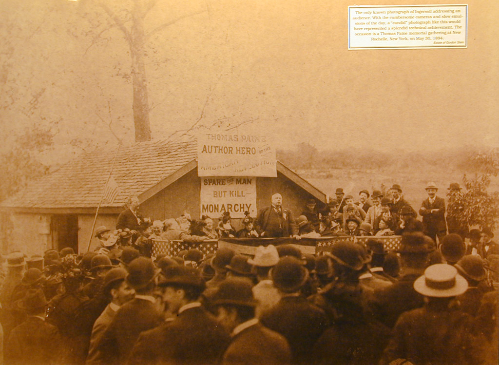The only known image of Ingersoll addressing an audience.