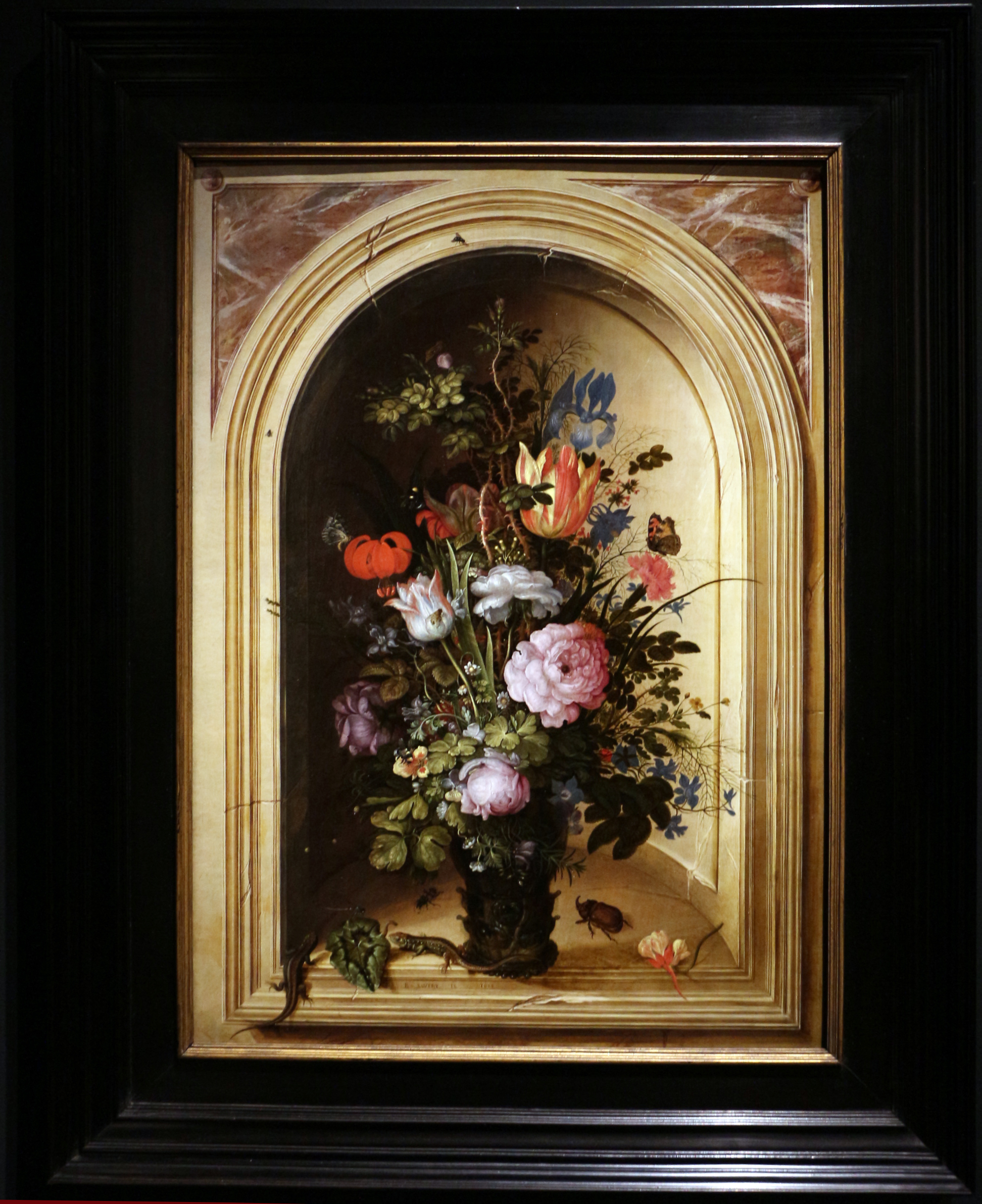 File roelandt savery natura morta con vaso di fiori in for Finestra con fiori disegno