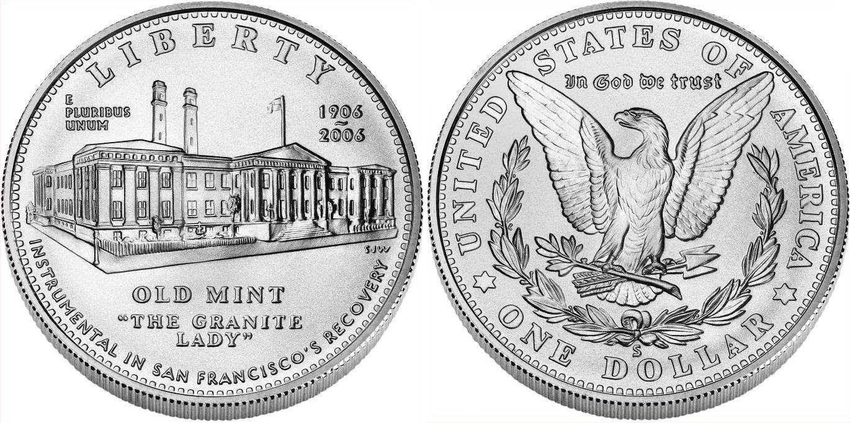 Morgan dollar, USA, 1882 SanFranciscoMintCommemorative
