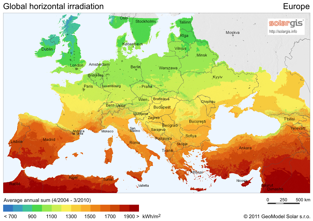 Solar Power In Lithuania Wikipedia - Solar power map us