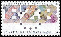 Stamp from Deutsche Post AG from 1998, formati...