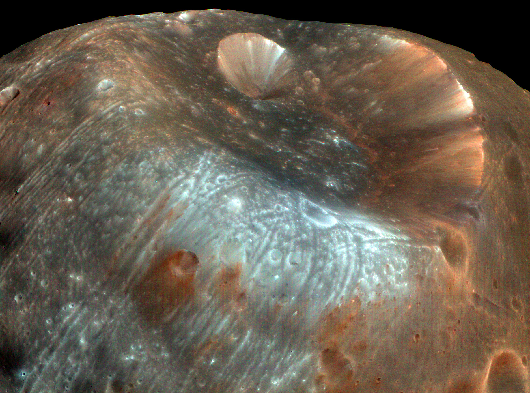 View of Phobos From Mars - Pics about space