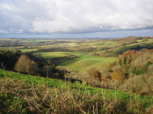 Sunny November day on Old Winchester Hill - geograph.org.uk - 943278
