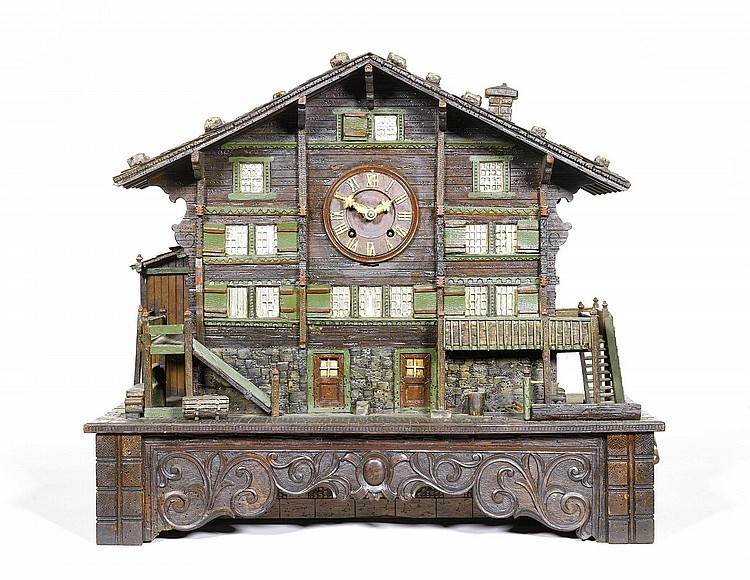 Swiss cuckoo clock, ca. 1900