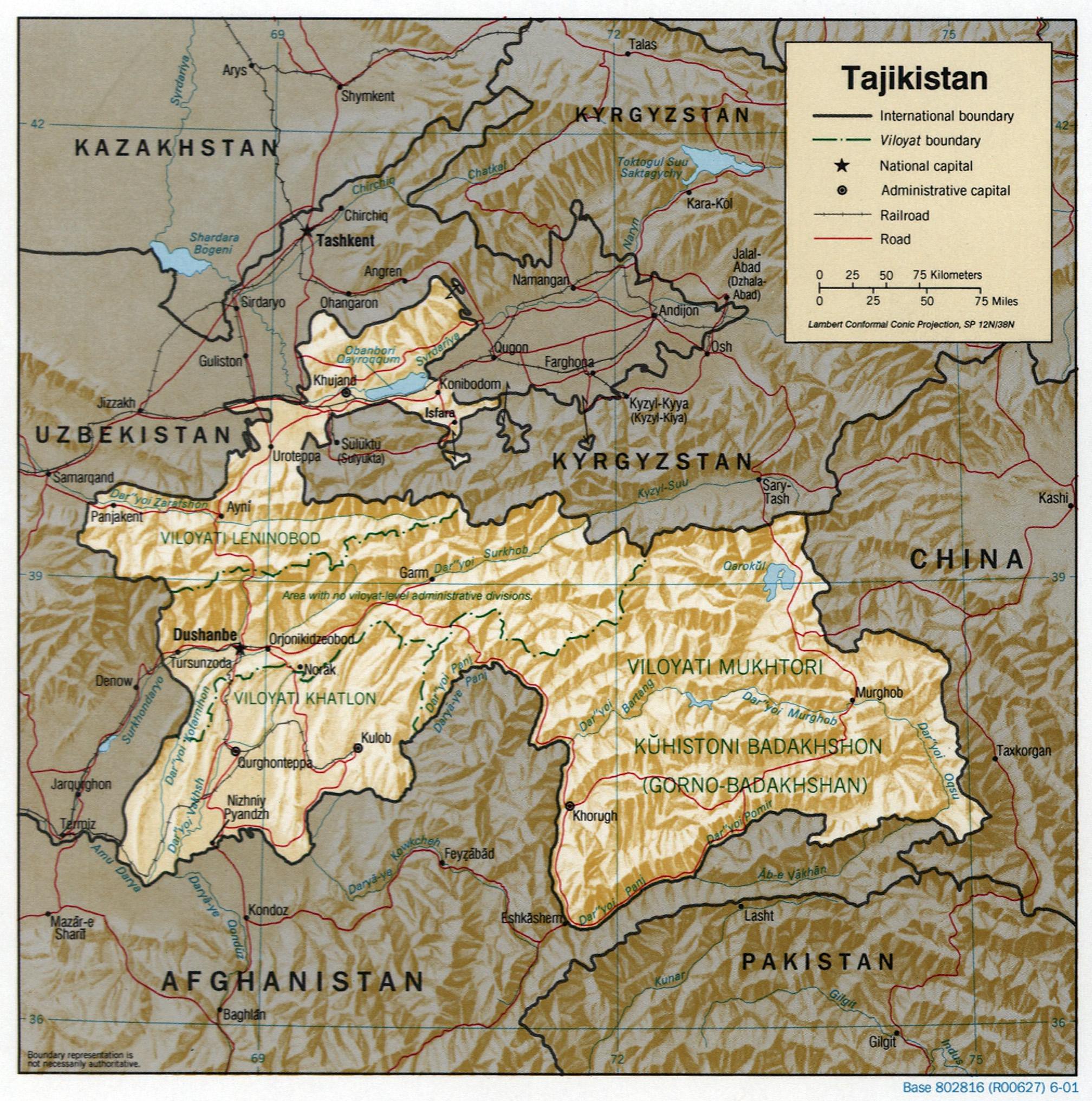Image:Tajikistan 2001 CIA map