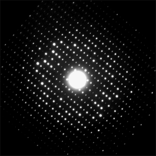 A diffraction pattern for a tantalum oxide