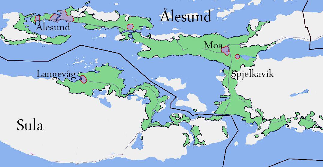 sula kommune kart Ålesund (tettsted) – Wikipedia sula kommune kart