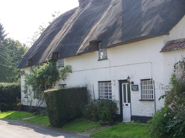 Thatched cottages, Hilton - geograph.org.uk - 985837