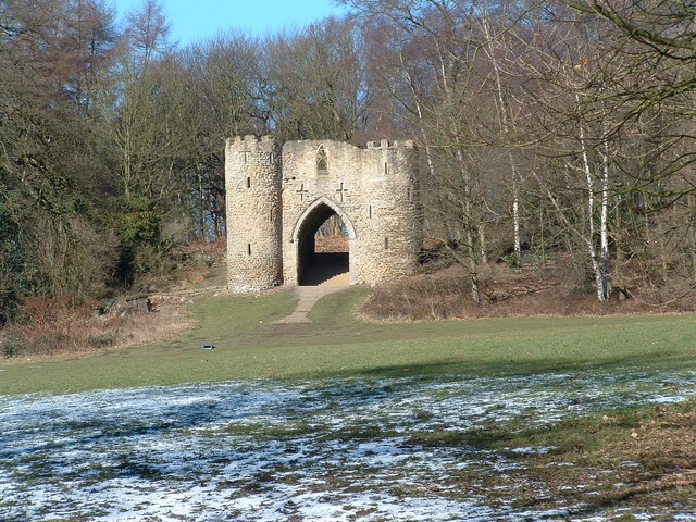 """The """"castle"""" in Roundhay Park - geograph.org.uk - 140779"""
