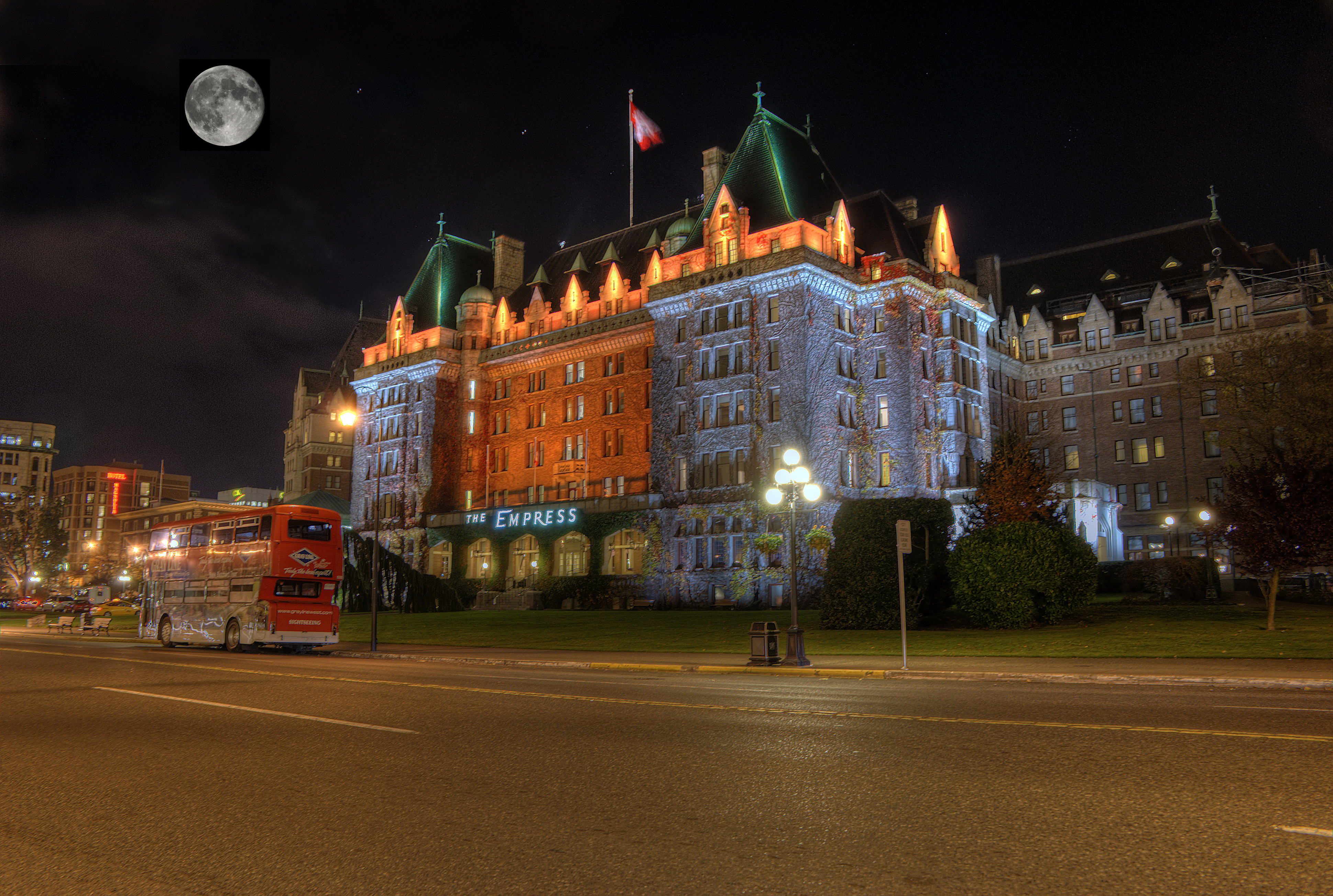 File The Empress Hotel At Night Victoria Bc A Jpg