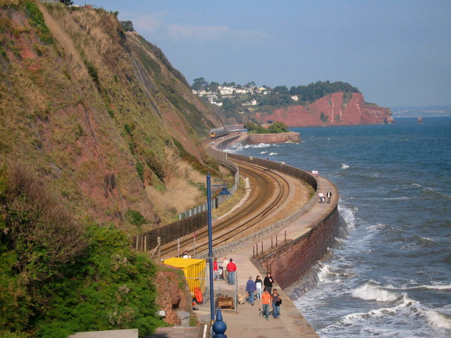 The South Devon Railway Sea Wall - geograph.org.uk - 579838