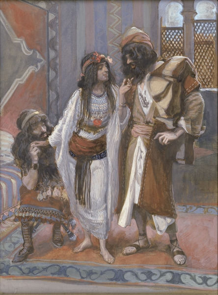 The Harlot of Jericho and the Two Spies (James Tissot, 1902)