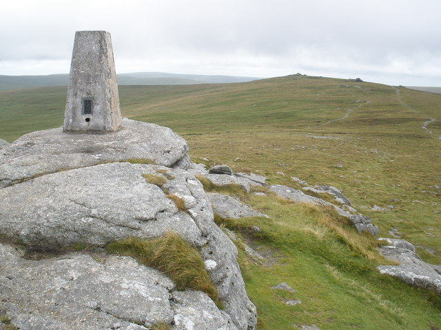 Trig Point, on Yes Tor - geograph.org.uk - 1424653