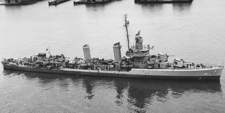 A Benson-class destroyer