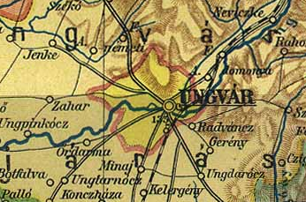 Австро-Венгерская карта 1910 года