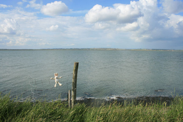 View from the Saxon Shore Way over The Swale to the Isle of Sheppey - geograph.org.uk - 474501