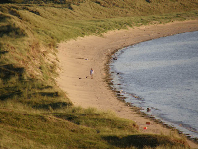 Walking on Whiteford Sands - geograph.org.uk - 534840