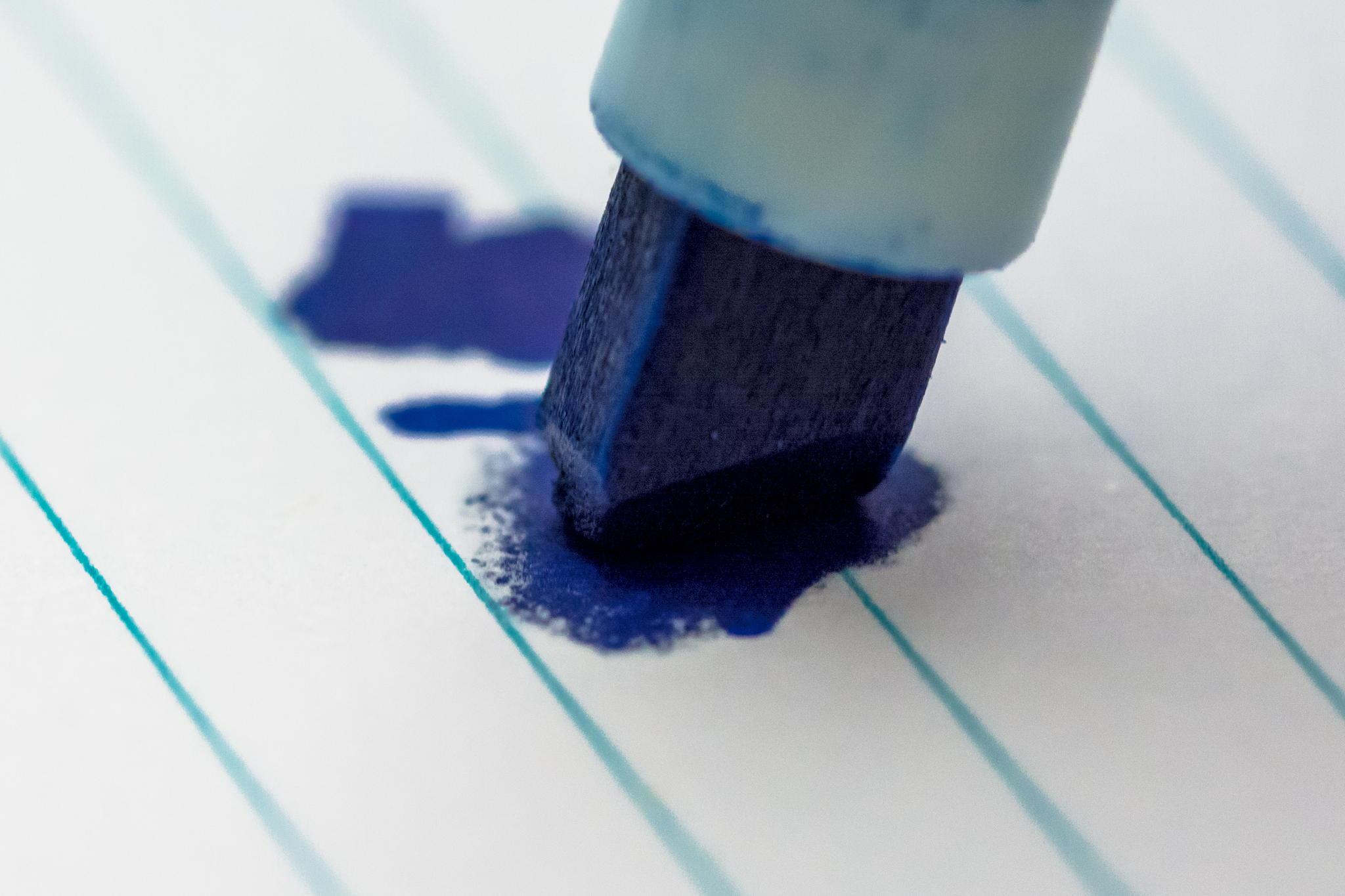 Schriftmuster eines Faserschreibers