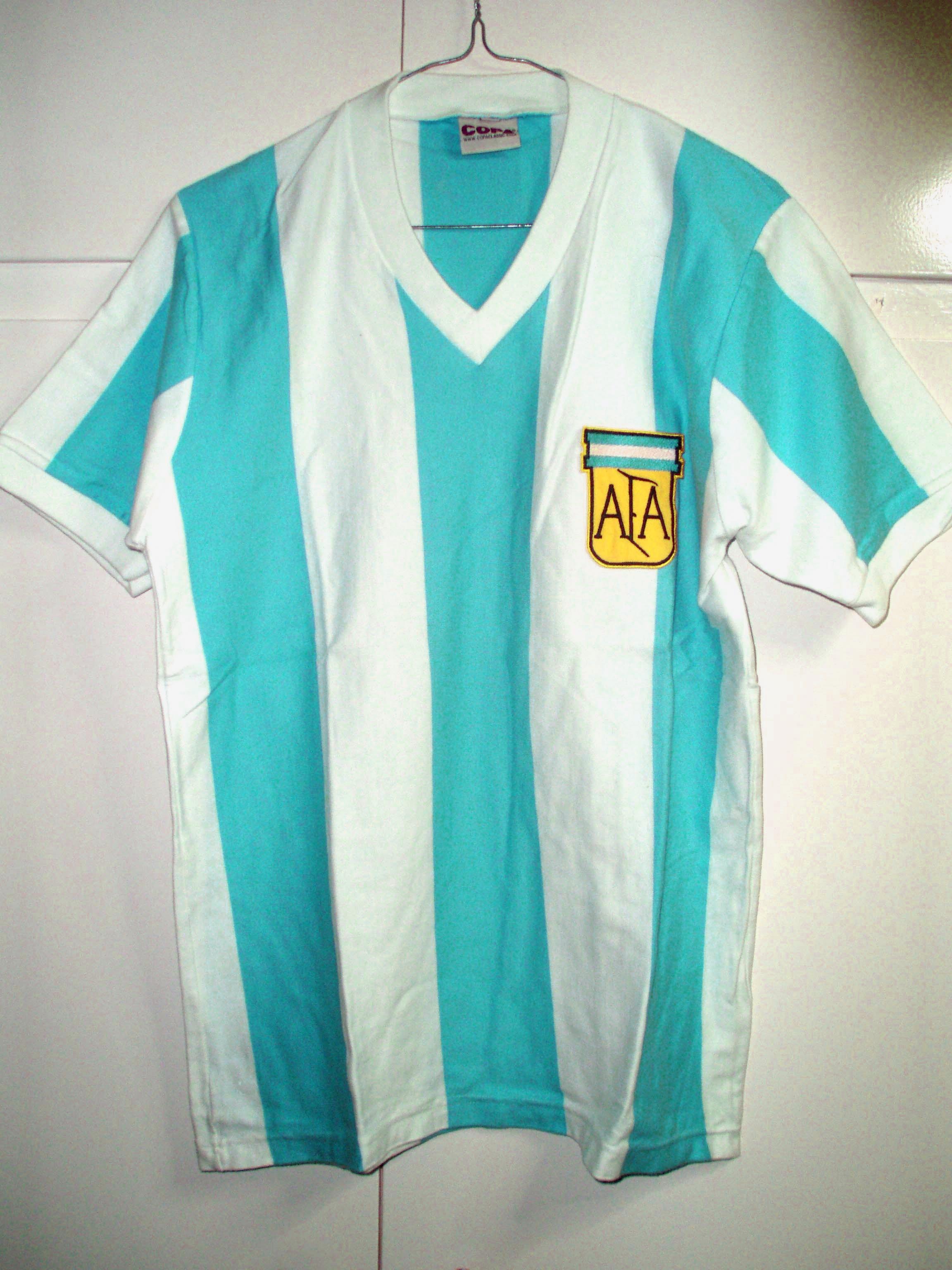 Camisetas en mundiales - Seleccion Argentina