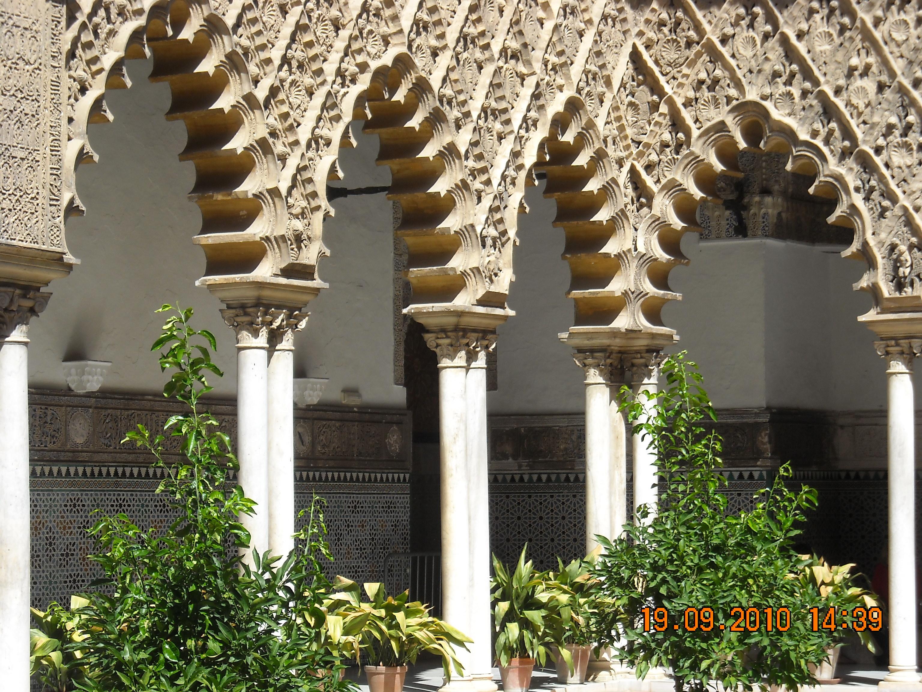 File arquitectura rabe en jardines reales alc zares - Arquitectura sevilla ...