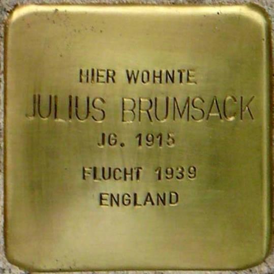 Stolperstein Meyerhofstraße 12 Brumsack Julius
