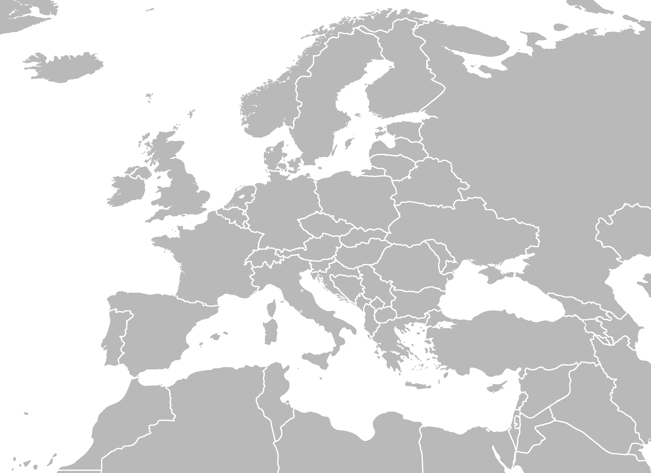 Blank Map Of Europe And North Africa
