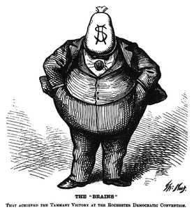 Karikatur über Korruption, Thomas Nast [Public domain], via Wikimedia Commons