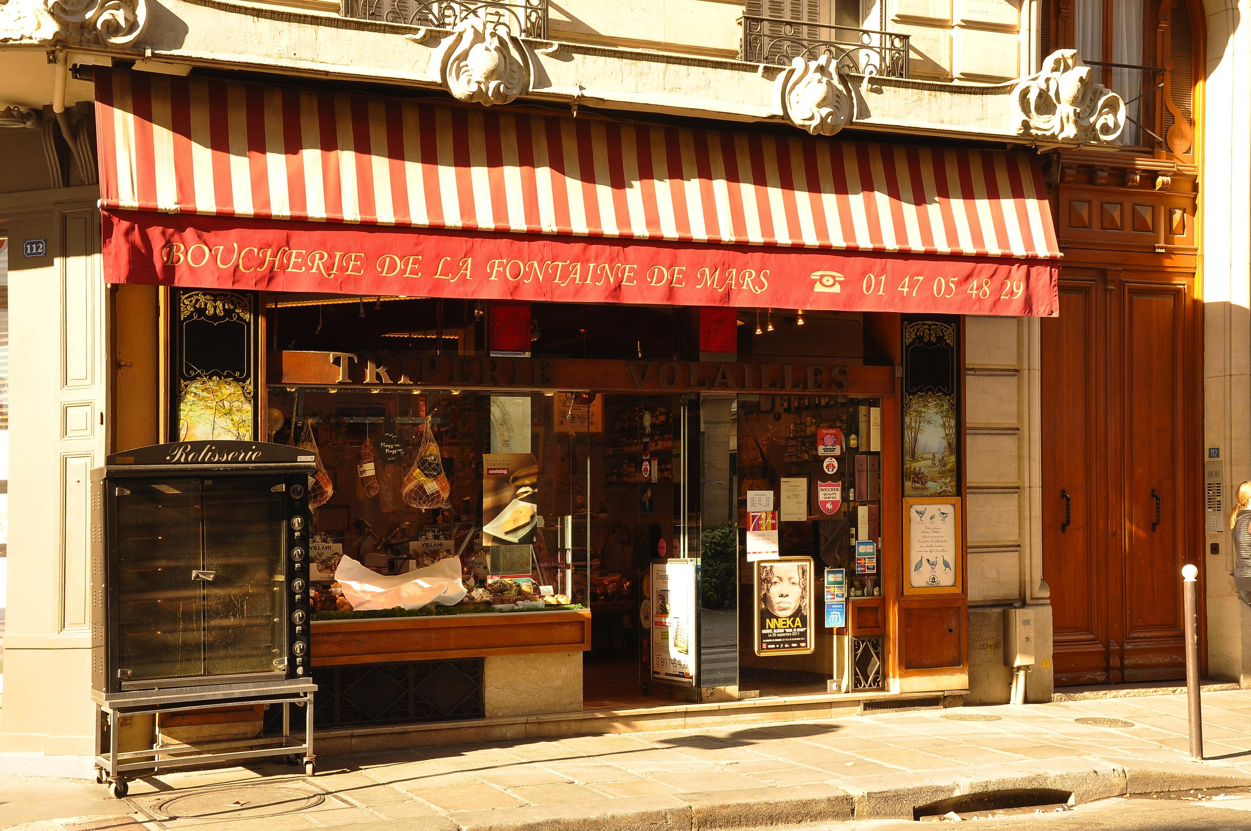 file boucherie de la fontaine de mars 112 rue saint dominique paris wikimedia commons. Black Bedroom Furniture Sets. Home Design Ideas