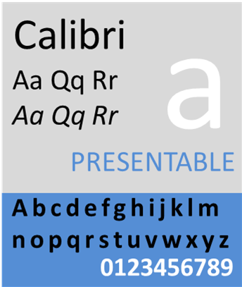 Calibri sample01