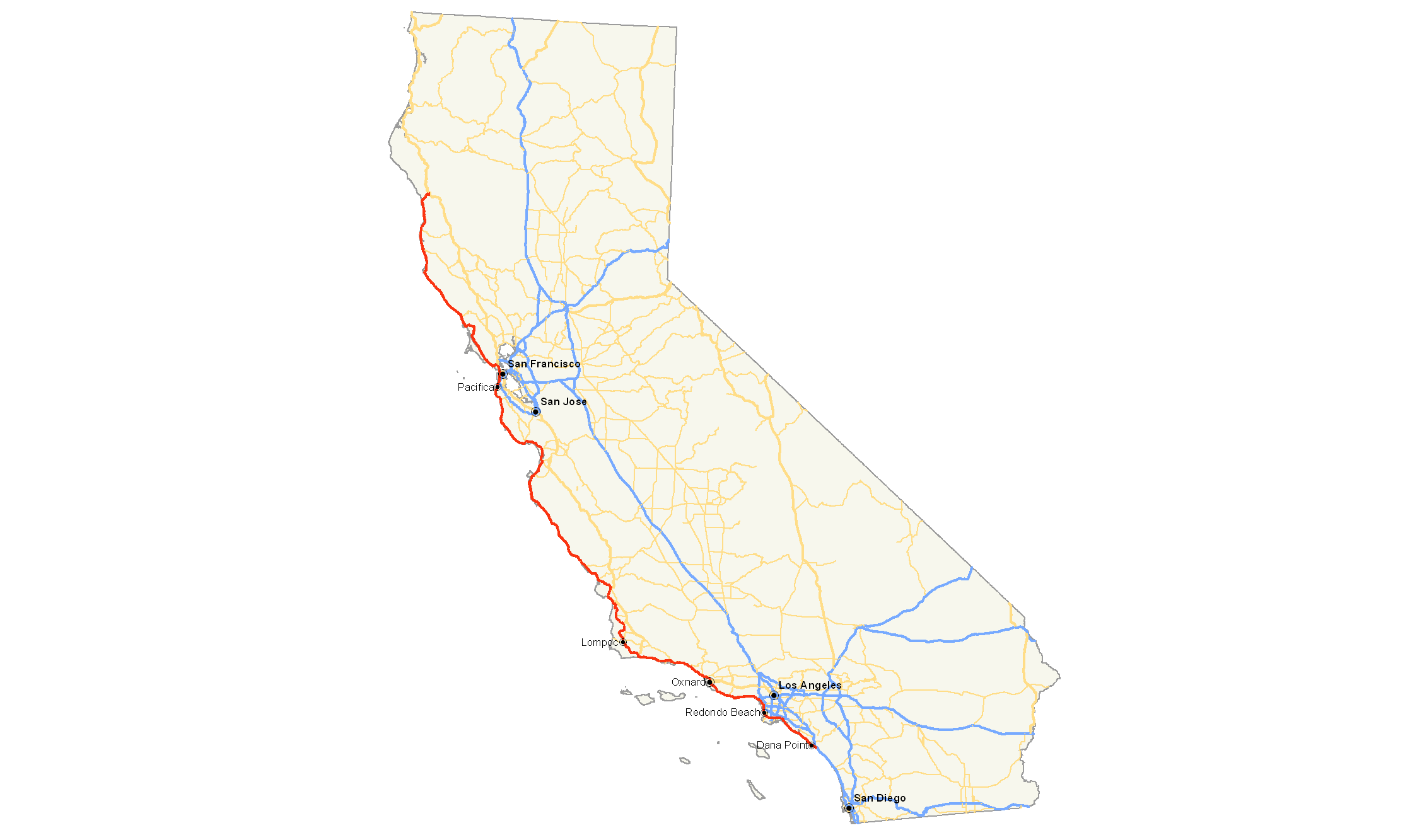 FileCalifornia State Route Mappng Wikimedia Commons - Map of california highways