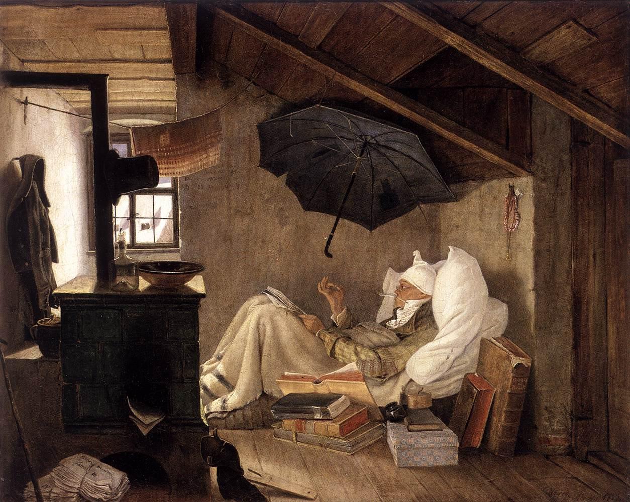 file carl spitzweg der arme poet ehm alte nationalgalerie wikimedia commons. Black Bedroom Furniture Sets. Home Design Ideas