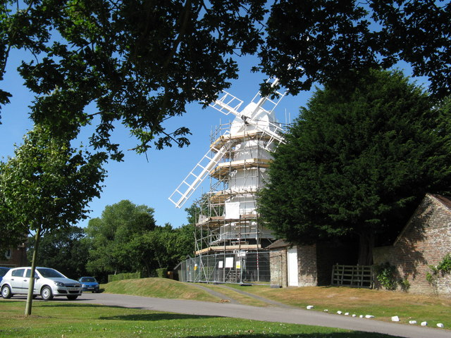 Chailey Windmill under repair - geograph.org.uk - 1392339