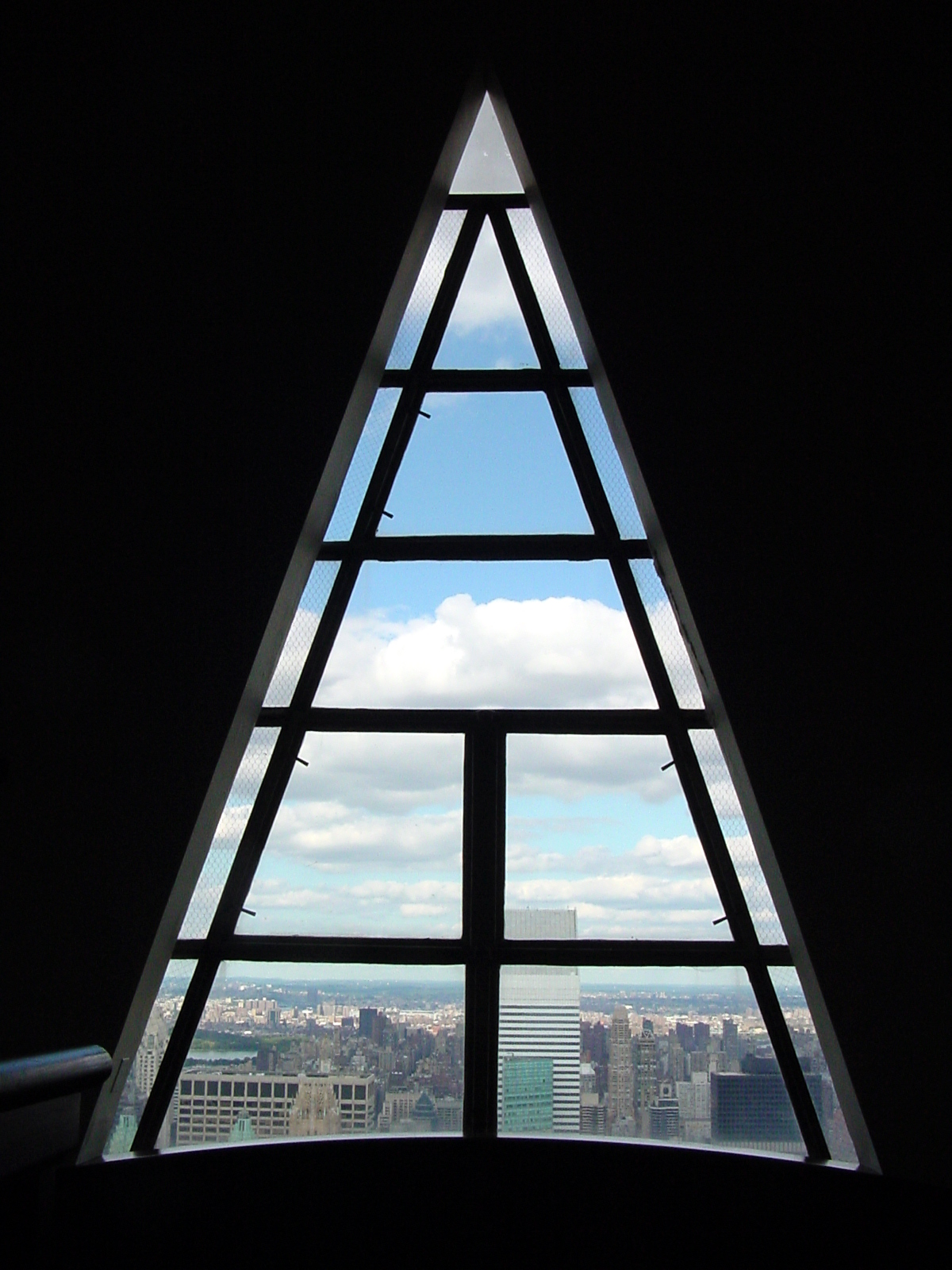 On top of the world at the Chrysler Building, New York ...