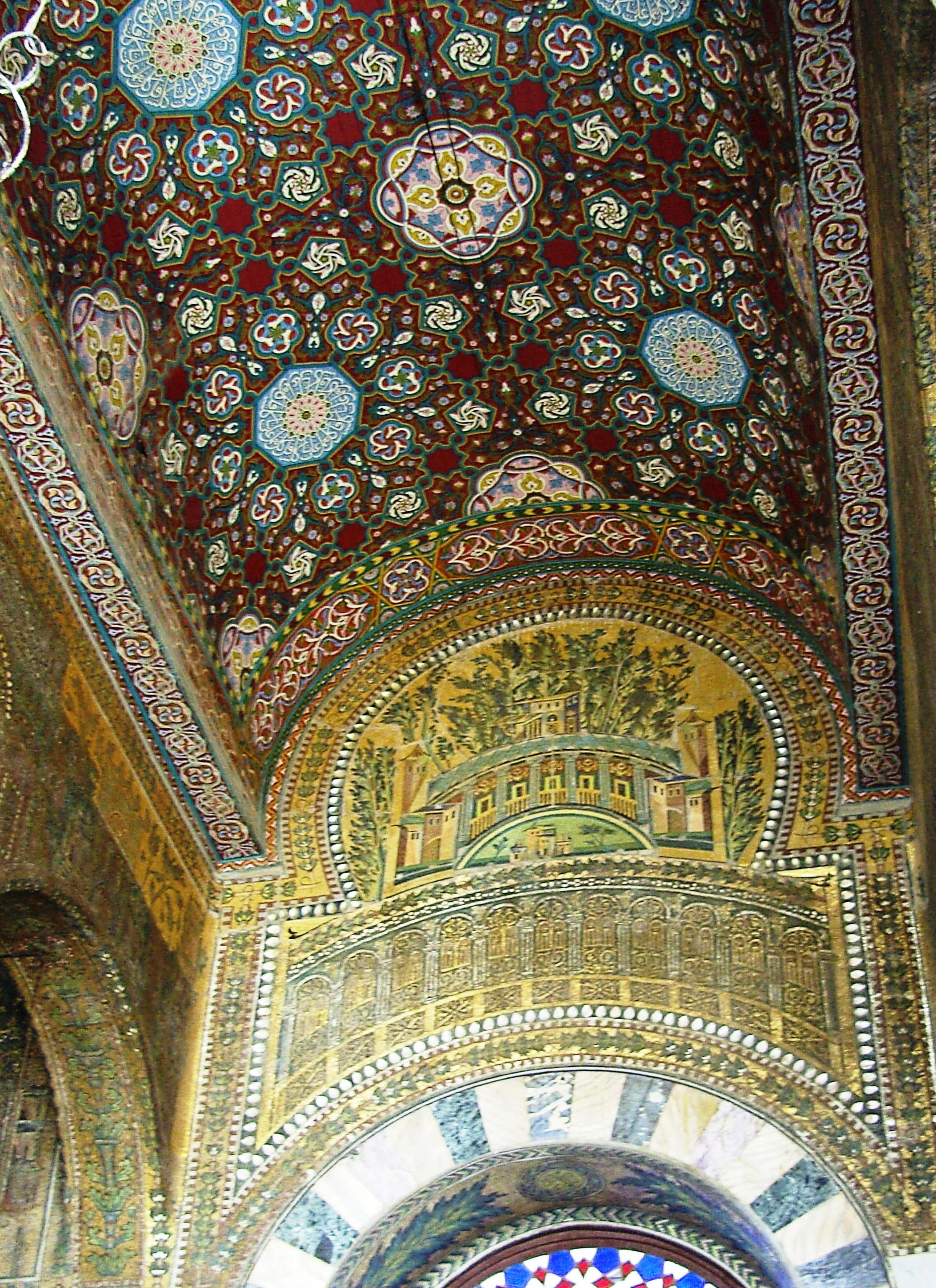 File Deckenbemalung Umayyaden Moschee Jpg Wikimedia Commons