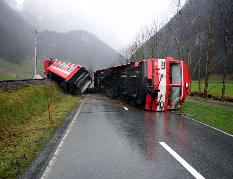 Eisenbahnunfall von Wasserauen 2007 - Quelle: WikiCommons, Details siehe Artikel unten